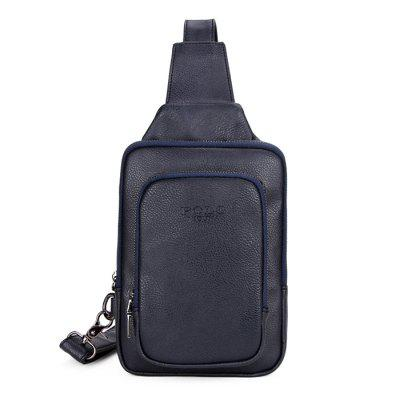 VICUNAPOLO Men Leisure Practical PU Chest Bag