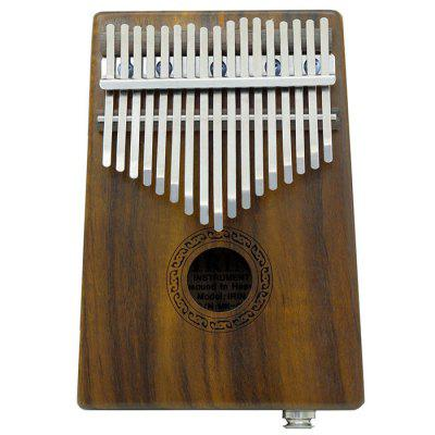 IRIN Electric 17 Key Acacia Wood Thumb Piano Kalimba