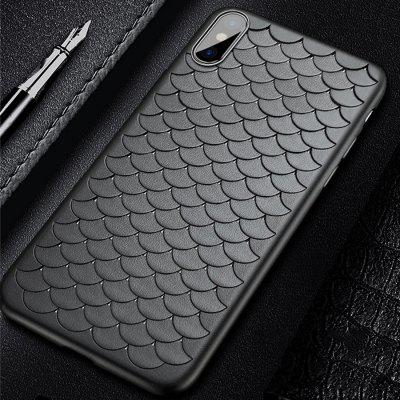 TPU PC Mobile Phone Shell with Perlage Pattern for iPhone X twill pattern hybrid pc tpu phone cover for iphone 7 plus grey