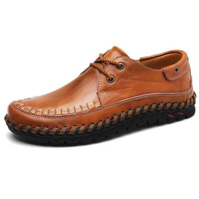 Men Trendy Anti-slip Handcrafted Leather Casual Shoes