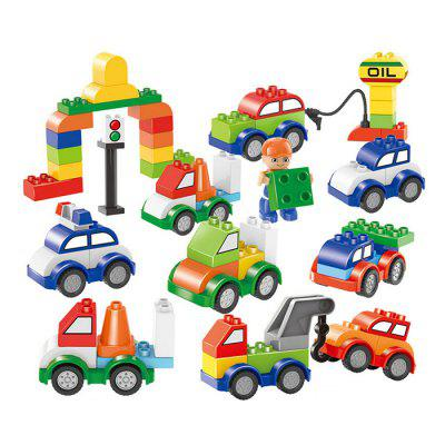 Mini Vehicle Building Blocks Educational Kids Toy 296pcs creative building toys children educational mushroom nail peg board building frame jigsaw puzzle kids intelligence toy