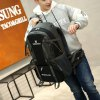 Nylon Sports Stylish Men Backpack - BLACK