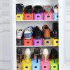 Adjustable Mini Plastic Shoes Organizer 1PC - BLACK