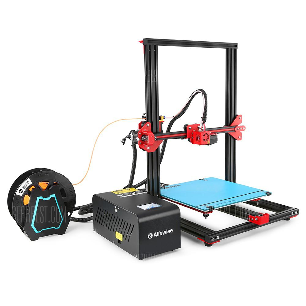 Alfawise U20 Large Scale 2.8 inch Touch Screen DIY 3D Printer - BLACK EU PLUG