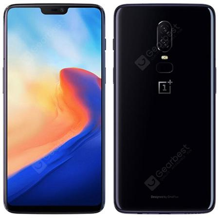 OnePlus 6 4G Phablet Global Release - MIRROR BLACK  6+64go