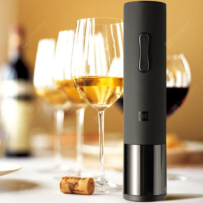 huohou Wine Electric Bottle Opener from Xiaomi youpin - Black