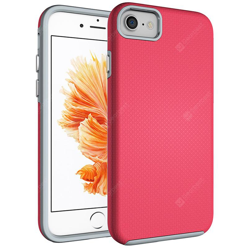 Anti-slip Plated Button Protective Case for iPhone 7 / 8