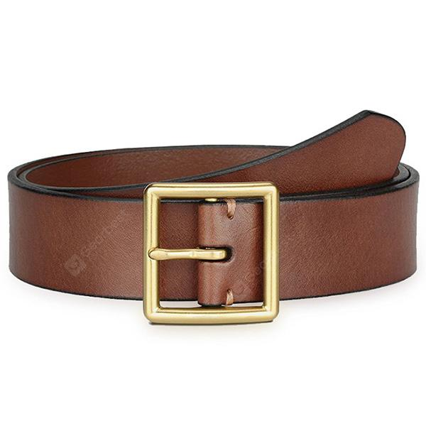Xiaomi Youpin Men Brass Buckle Handcrafted Leather Belt