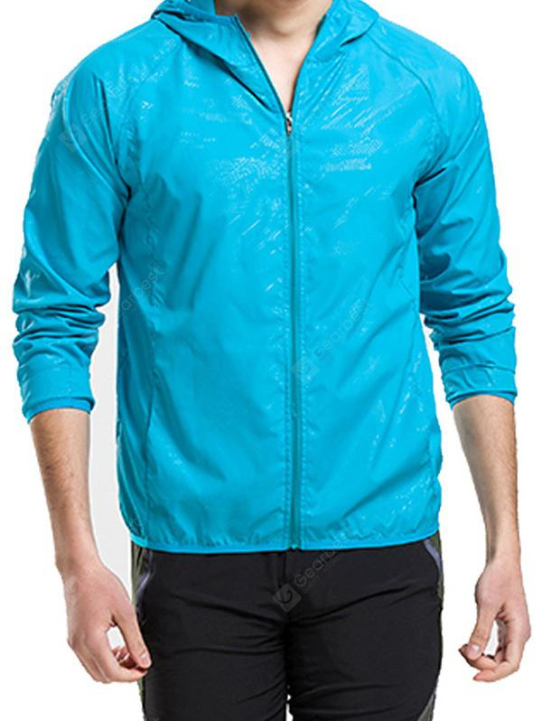 Outdoor Men's Suntan Suit Ultra-Thin Fast Dry Breathable Skin Windbreaker
