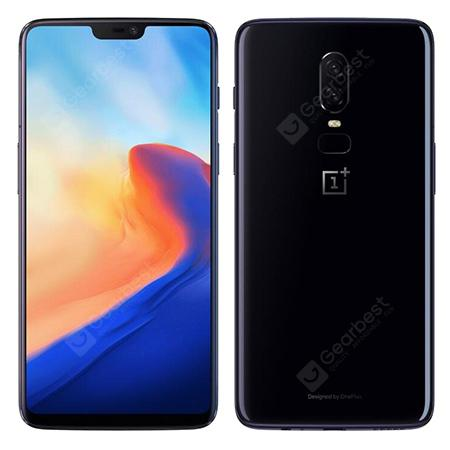 OnePlus 6 4G Phablet 64GB ROM International Version - MIRROR BLACK 4+64 Go