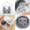 Mesh Shoes Laundry Bag Sneaker Washing Protector - WHITE