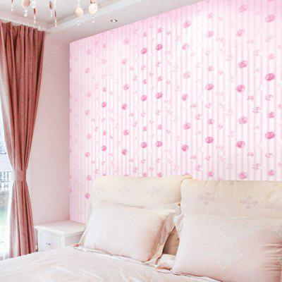 PVC Self-adhesive Wallpaper Home Wall Sticker romantic red chrysanthemums pvc waterproof 3d wall murals wallpaper floor custom photo self adhesive 3d floor