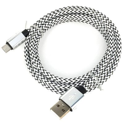 2Meter Nylon Micro USB Cable Fast Charge Wire