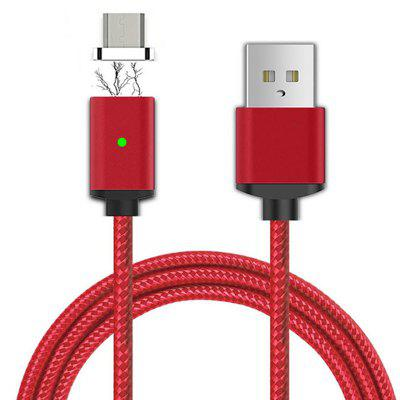 Cwxuan Micro USB Detachable Magnetic Adhesion Braided Data Sync Charging Cable (100cm)