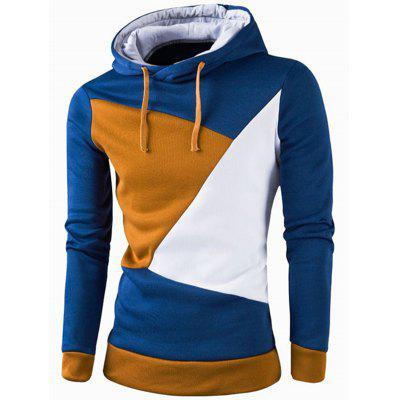 IZZUMI  Casual Slim Fit Long Sleeve Spliced Hoodie