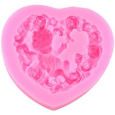Silicone Cake Mold Rose Heart Angel Baby creative romantic love rose design silicone cake mold 2pcs