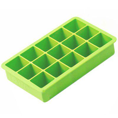 Silicone Ice Mold Colorful Grid 1pc ice box mold green