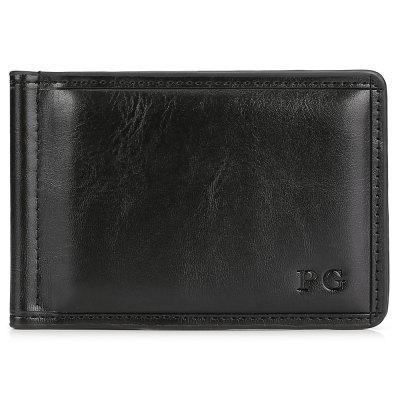 Leisure Leather Men Money Clip