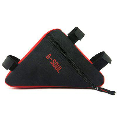 B - SOUL Bicycle Triangle Bag Tube Pocket Front Pack