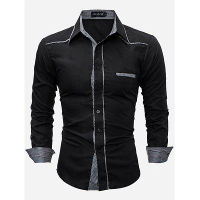 Fashion Button Down Long Sleeve Shirt for Men