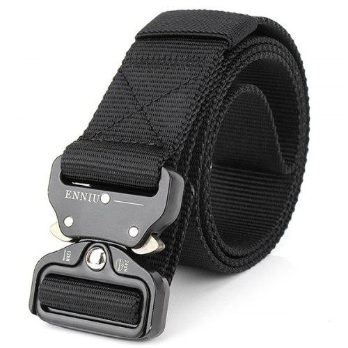 Belt Canvas us Military buckle Metal Smooth Buckle Striped Belt tactical quality