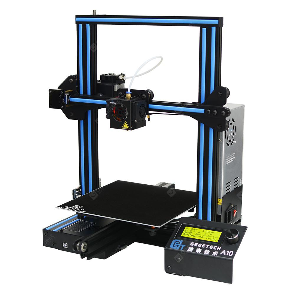 Geeetech A10 Quickly Assemble 3D Printer 220 x 220 x 260mm - BLACK EU PLUG