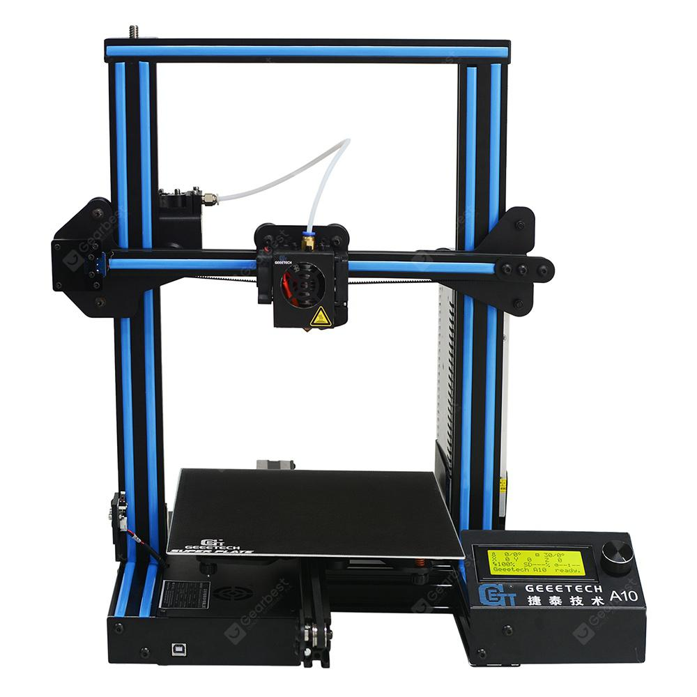 Geeetech A10 3D Printer DIY 220 x 220 x 260mm - BLACK EU PLUG