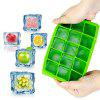 Silicone Ice Mold Colorful Grid 1pc - ALIEN GREEN
