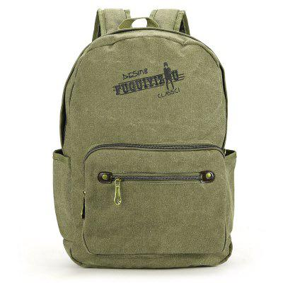 Creative Simple Canvas Men Backpack