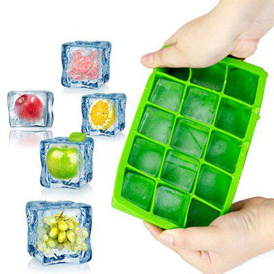 Square Ice Mold Colorful Silicone Grid ice box mold green