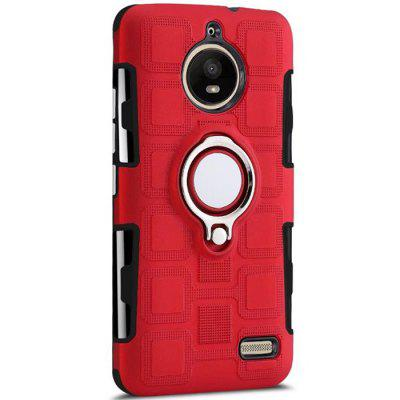 Cover Case for Moto E4 Ring Dual Heavy Duty PC TPU Resistent