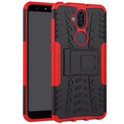 TPU + PC Dual Armor Cover with Stand For Asus Zenfone 5 Lite ZC600KL nxe embossed opera make ups leather pc tpu cover with built in iron sheet for iphone 7 yellowgreen