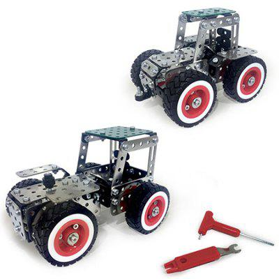 2-in-1 Stainless Steel Vehicle Building Blocks 241pcs 8 in 1 military ship building blocks toys for boys