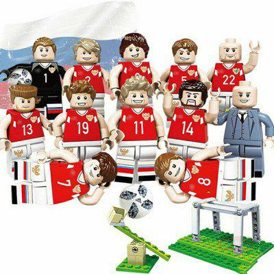 Building Blocks Football Player Model Toy 12pcs fun children s building blocks toy compatible legoes toy pocket monster small animal model intelligence building block toy