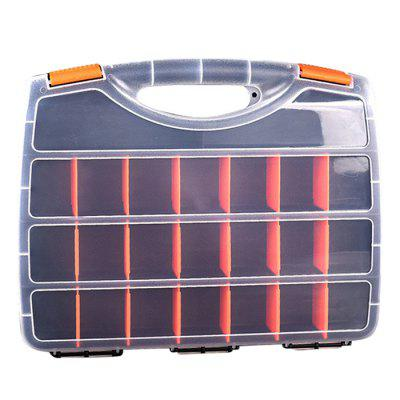 15-compartment Tool Storage Box Handheld Small Parts Organizer