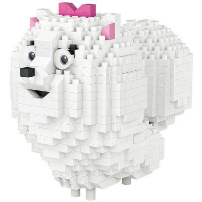 LOZ Building Blocks Pomeranian Model Toy 600pcs / Pack