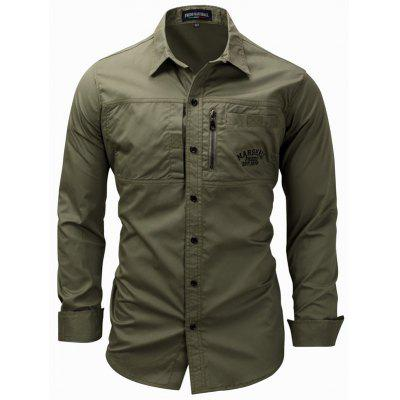FREDD MARSHALL Men's Casual Long Sleeve Military Style Hiking Shirt