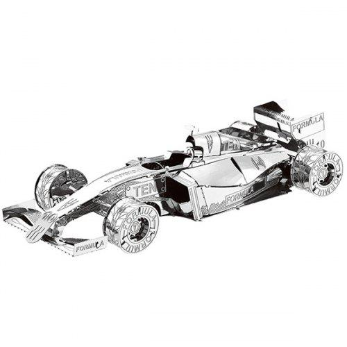 Gearbest Metal Racing Car 3D Puzzle Kids Model Toy - SILVER