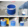 Outdoor Portable Foldable Water Storage Bucket - ROYAL BLUE