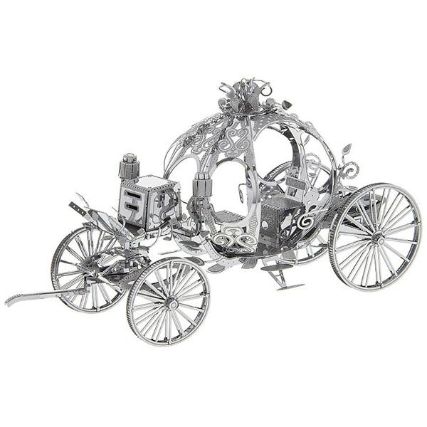 Metal Pumpkin Carriage 3D Puzzle Kids Model Toy - SILVER