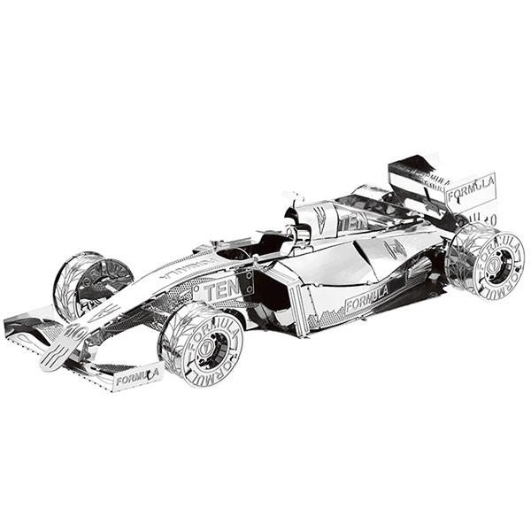 Metal Racing Car 3D Puzzle Kids Model Toy - Silver