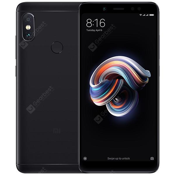 Xiaomi Redmi Note 5 4G Phablet Global Version - BLACK 4+64GB