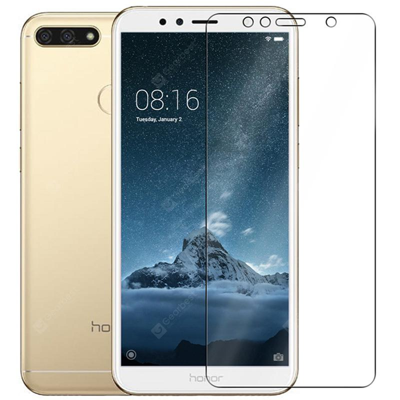 2PCS Transparent Durable Tempered Glass for Huawei Enjoy 8e High Clear