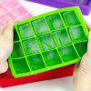 Square Ice Mold Colorful Silicone Grid - GREEN
