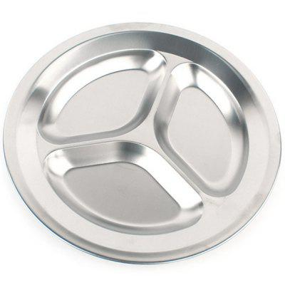 Kids Three Grids Stainless Steel Tray Food Dish