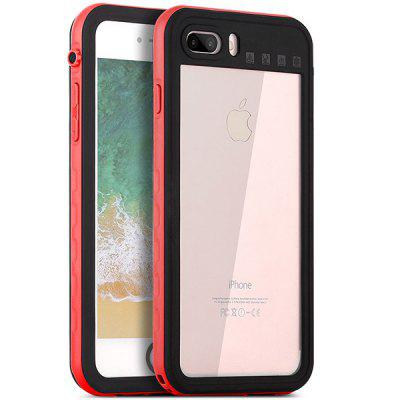 Waterproof PC + TPU Protective Case for iPhone 7 Plus / 8 Plus elegance tpu pc hybrid back case with kickstand for iphone 7 plus 5 5 inch red