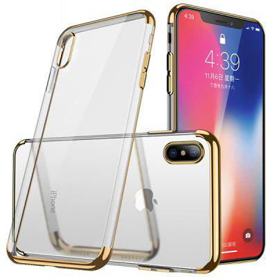CAFELE Anti-shock Electroplate Phone Protective Case for iPhone X cafele electroplated matte pc drop proof phone case for iphone 6s 6 black