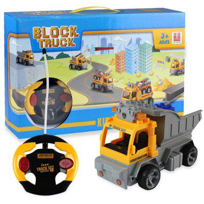 1802 2 in 1 1/18 4CH RC Car Building Blocks Puzzle Toy octa angle ru bun lock children puzzle toy building blocks