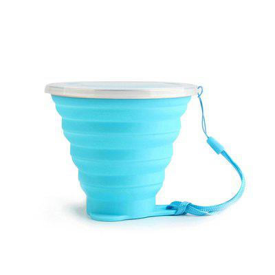270ML Solid Color Silicone Foldable Cup foldable cup rack