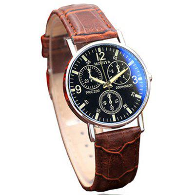 Männer Luxus Leder Analog Quarz Business Armbanduhr